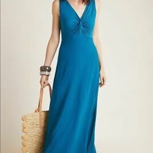 Maeve Camilla Maxi Dress in Teal Jersey Fabric